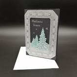 Carte Meilleurs Vœux en dentelle de papier