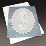 Carte Hippocampe en dentelle de papier