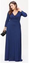 blaues Maxi-Kleid