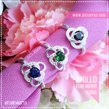 Anillo flor infinit cubic