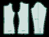 Shirt-Grundschnitt und Shirt-Ärmel