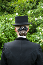 Hairnet with Stones and Brooch