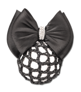 """Waldhausen Hairnet with clip and double bow """"Bling ring"""""""