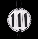Bridle Number Round Crystal