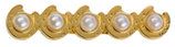 """Brooch """" Horse Shows with Pearls"""""""