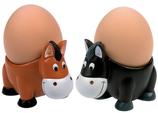 """Egg Cups """"Horses"""" Set of 2"""
