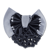"""Waldhausen Hairnet with clip with double bow """"Striped"""""""