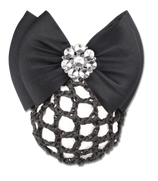 """Waldhausen hairnet with clip with double bow """"Bling"""""""