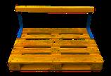 Rücklehne für Palettenmöbel | zum Anschrauben | für Euro-Paletten | massiv | DIY Möbel | 2 Stahlwinkel & 1 Holzbalken