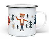 Life is delicious Emaille Tasse Nussknacker