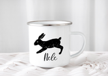 Enamel mug with name bunny Nele