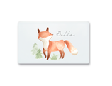 Breakfast board fox Bella with name