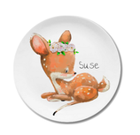 Breakfast plate fawn Suse with name