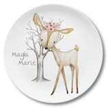 Large plate with name deer Mayla Marie