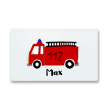 Breakfast board fire engine Max with name