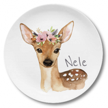 Large plate with name fawn Nele