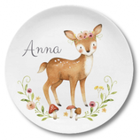 Breakfast plate with name fawn Anna