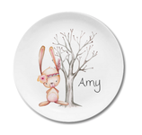 Breakfast plate bunny Amy with name