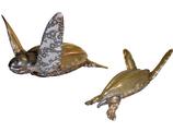 RIA2551 Wasserschildkröte Figur lebensgroß