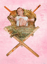 RIKR2021C  Krippe Figur groß Jesus Kind fast lebensgroß