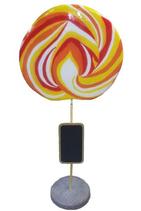 RIIIB023 Lolly Werbefigur mit Schild