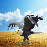 20160 Adler Figur lebensgroß
