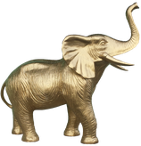 GZC004 Elefant Figur gold bemalt