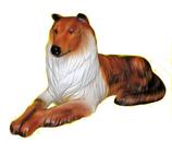 90060 Collie Hund Figur lebensgroß liegt