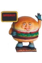 RIIHA001 Hamburger Figur mit Schild