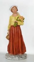 RIF542 Krippefigur Frau mit Blumen 65 cm groß 2021