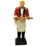 H007 Kellner Butler Figur lebensgroß