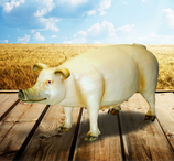 RIA2513 Schwein Figur lebensgroß