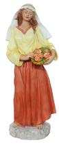 RIF592 Krippefigur groß Frau mit Blumen 110 cm groß 2021