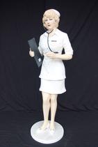 2312VH Sexy Lady Pin Up Doc Girl Figur lebensgroß