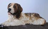 RIF176 Bernhardiner Hund Figur