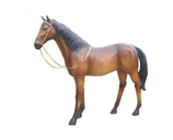 RI10A28 Pferde Figur lebensgroß Deko Garten Gastro Werbe Figur