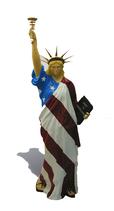 A001b Freiheitsstatue Figur bunt lebensgroß