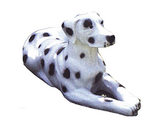 90061 Dalmatiner Hund Figur lebensgroß liegt