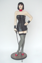 2368VH Sexy Lady Pin Up Domenique Figur lebensgroß