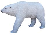 RIA563 Eisbär Figur lebensgroß