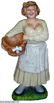 RIPO119 Bäuerin Figur mit Obstkorb