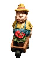 RIPO105 Bauer Figur mit Schubkarre