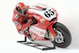 2587VH Rennfahrer Motorrad Figur lebensgroß
