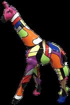 RISCD005 Giraffe Figur bunt
