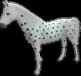 RISAC001B Pferde Figur lebensgroß gepunktet
