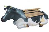 RIGBA017 Kuh Figur lebensgroß als Bank