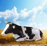 RIA2505 Kuh Figur lebensgroß liegend als Bank