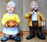 RIPO96 Oma Figur und Opa Figur stehend