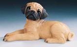 RIF348 Mops Welpe Hund Figur