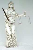 1057VH Justizia Lebensgroß